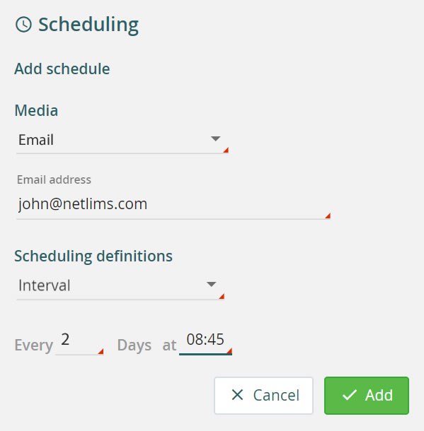 Create a report schedule
